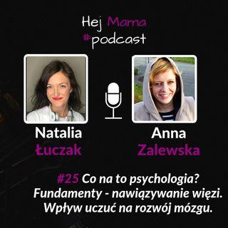 #025 - Co na to psychologia? - rozmowa z Anną Zalewską o typach więzi cz. 2