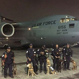 USAF Delivers Search teams & Supplies To Mexico