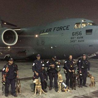 USAF Delivers Search teams & Supplies To Mexico