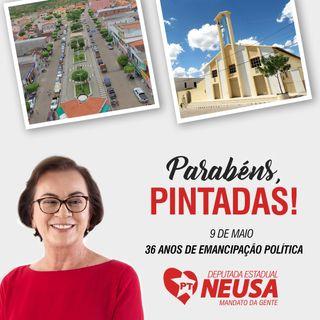 Mensagem da Deputada Neusa aos 36 anos de Pintadas-BA