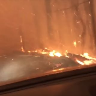 Father Who Drove Through Wildfire Describes Harrowing Escape