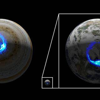 Juno rivela l'origine delle tempeste aurorali su Giove