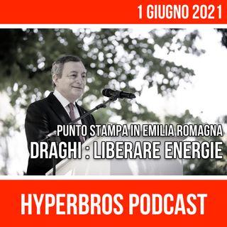 Draghi in Emilia Romagna: Italia è viva con tanta voglia di ripartire