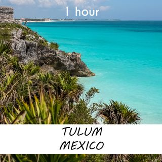 Tulum, Mexico | 1 hour OCEAN WAVES Sound Podcast | White Noise | ASMR sounds for deep Sleep | Relax | Meditation | Colicky