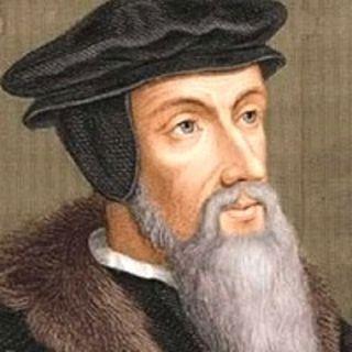 L'eretico Giovanni Calvino, seguace di Lutero