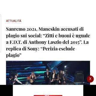 Episodio 10 - Sanremo 2021 : e puntuali ecco arrivare i primi plagi o presunti tali delle canzoni in gara (maneskin e colapesce e dimartino)