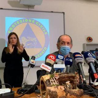"""Zaia chiede al Governo la """"zona rossa"""" per il Veneto fino al 6 gennaio"""