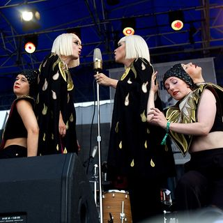 Lucius Live In Concert Newport Folk 2018 on NPR's All Songs Considered Live