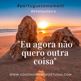 """Good Morning Portugal! What a Palavra? """"Eu agora não quero outra coisa"""""""