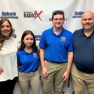 Nadia Bozeman and Joey Costello with Peachtree Ridge High School Robo Lions
