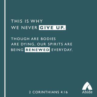 Be Encouranged, Be Renewed
