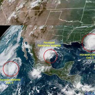 Tormenta tropical Fernand tocó tierra en Boca de Catán