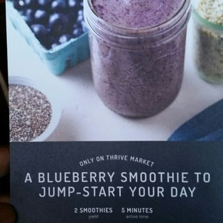 Blueberry Smoothie To Jump-start Your Day