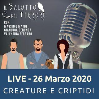 Live - 26 Marzo CREATURE & CRIPTIDI