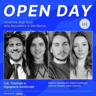 Open Day 2021 - Ingegneria Gestionale Triennale - Sara, Vittorio, Katia e Alberto