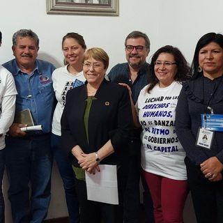 Bachelet, se compromete con familiares de desaparecidos en Nuevo León