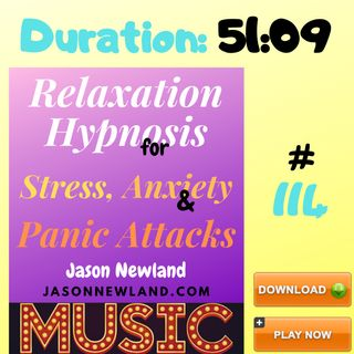 """#114 Relaxation Hypnosis for Stress, Anxiety & Panic Attacks - MUSIC - """"SAFE, POSITIVE, HEALING RELAXATION"""" (9th April 2020)"""