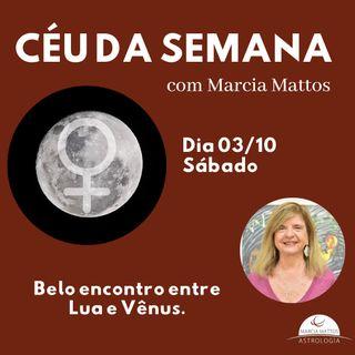 Céu da Semana - Sábado, dia 03/10: Belo encontro entre Lua e Vênus