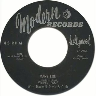 Young Jessie with The Cadets - Mary Lou [Modern #961] 1955 Black R&R_Doo-Wop