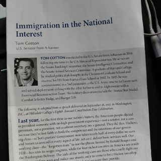 Immigration in the National Interest Part 3