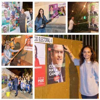 Pegada de carteles y arranque de campaña
