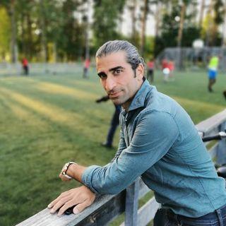 Abgar Barsom fotbollsspelare och fotbollsagent besökte Vivalla
