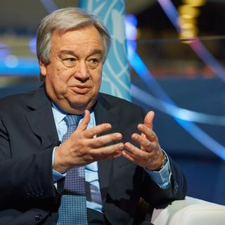 "UN secretary general calls for ""global governance"" with 'teeth"