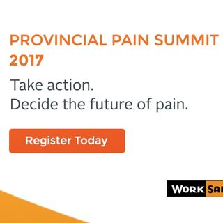 Be a Part of the Provincial Pain Summit 17-19 February 2017