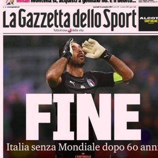 Italia se queda fuera del Mundial