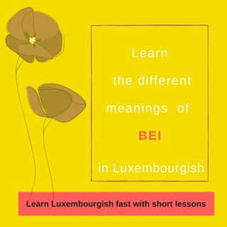 "Lesson 18: Learn the different meanings of the Luxembourgish preposition ""bei"""