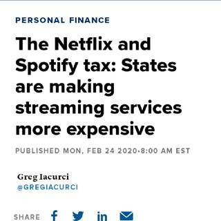 States Plan To Tax Streaming Services