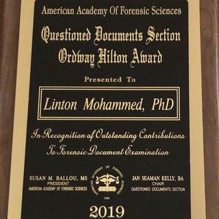Entrevista a Linton Mohamed Examinador de Documentos Cuestionados en Norteamérica (Inglés)