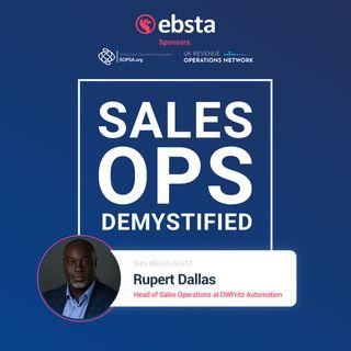 Rupert Dallas, Head of Sales Operations @ DWFritz Automation