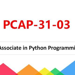 PCAP-31-03 Certified Associate in Python Programming Exam Dumps