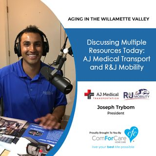 "10/3/17: Joseph Trybom with AJ Medical Transport and R&J Mobility. ""Aging In The Willamette Valley"" with John Hughes from ComForCare Salem."