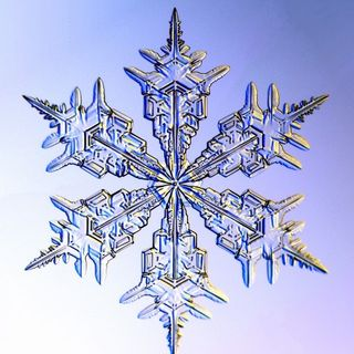 God Floats To Earth On Snowflakes