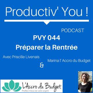 PVY 044 PREPARER LA RENTREE