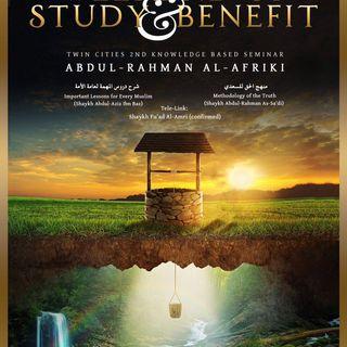 [Seminar]: Weekend of Benefit - Pt2