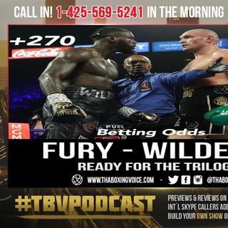 ☎️Tyson Fury Vs. Deontay Wilder 3 Odds: Fury Opens Up Huge Favorite😱 @ -420 Wilder +270💰