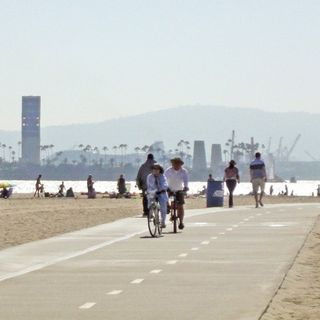 My Fight on the Long Beach Bike Path Today