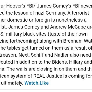 James Comey American Terrorist Within FBI Has Caused Untold Damage to America's Justice System and Intel Community Similar to Robert Hanssen