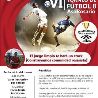 Anímate a pegarle a la 'Pecosa', VI Torneo de Fútbol AsoRosario
