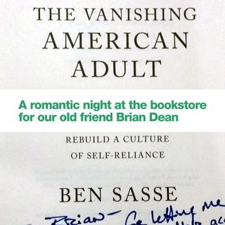 Brian Dean spent part of his anniversary date night at the bookstore