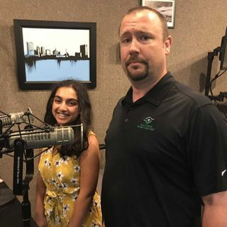 Kavita & Tom with the Sylvania STEM center