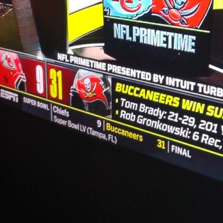 Congratulations To The Buccaneers SB55 Victory I Picked This Right!