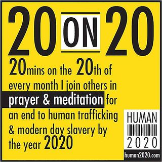 20 on 20 APRIL 20 - END HUMAN TRAFFICKING