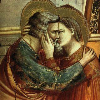 90 - L'Incontro tra i santi Anna e Gioacchino di Giotto