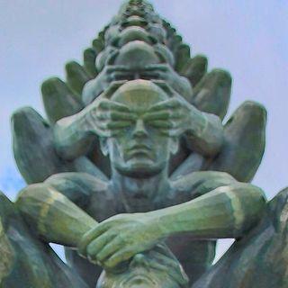 Arbol del despertar en Bodhgaya, India y  Las cuatro nobles verdades