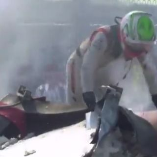 Brutto incidente per Luca Ghiotto al Gp di F2: illeso il pilota di Arzignano