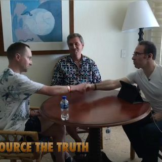Mark Devlin and Ole Dammegard with Jason Goodman, at Anarchapulco 2019